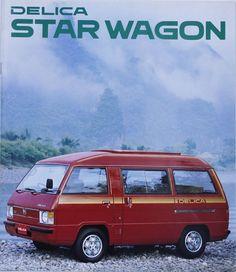 Japanese Brochure MITSUBISHI DELICA STAR WAGON Classic Car Catalog Vintage jv32 Retro Ads, Vintage Ads, Mitsubishi Colt, Japanese Domestic Market, Van Car, Car Brochure, Garage, Japanese Cars, Motor Car