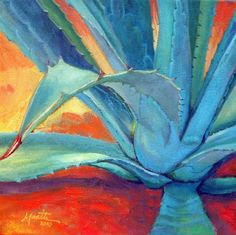 """Reaching Out"" - Oil on Canvas, in Agave Paintings"