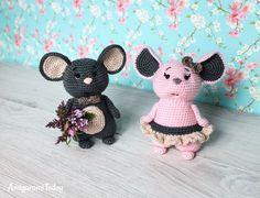 Pareja de ratones - Patrón de ganchillo gratis de Amigurumi Today