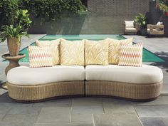 Offering quality wicker furniture, rattan furniture and outdoor wicker furniture. Find indoor and outdoor wicker chairs, wicker patio furniture. Canapé Design, Design Salon, Outdoor Wicker Furniture, Patio Furniture Sets, Ottoman Furniture, Smart Furniture, Contemporary Outdoor Sofas, Contemporary Furniture, High Point Furniture