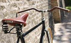 Leather brooks saddle