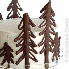 Winter cake decorations