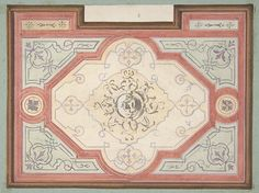 Design for the decoration of a ceiling Jules-Edmond-Charles Lachaise,  French