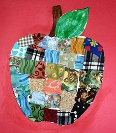 I love crafts that use a variety of papers and textures - you could easily do this using cuttings from magazines or scrapbook paper focusing on one certain color range or letting kids use their imagination!