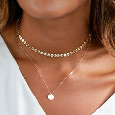 Tiny Coin Necklace