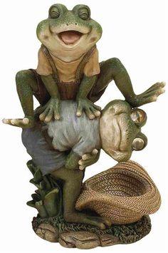 Leap Frog Garden Decor Statue