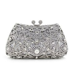 Ericdress Luxury Diamond Hollow Evening Clutch