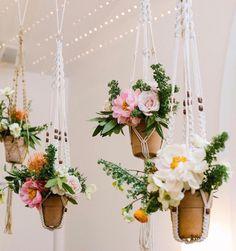 Macrame flower hangings