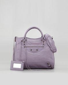 Balenciaga purse in soft lilac.  On my wish list...