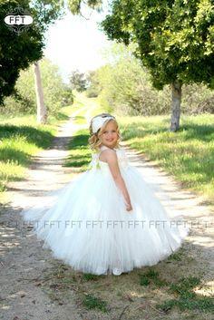 Marfil vestido vestido del tutú por FrillyFairyTales en Etsy