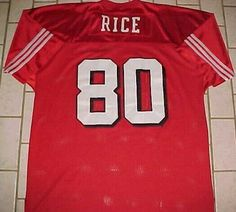 8ff1f908b Jerry Rice  80 S.F. 49ers NFL 75th NFC Mitchell   Ness 1994 Red White Jersey