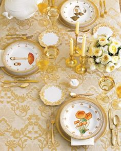 """See the """"Rich Gold Unifies the Tablesetting"""" in our  gallery"""