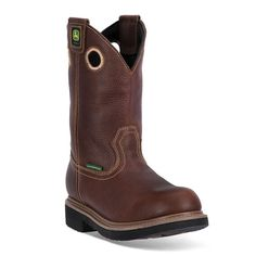 John Deere Men's Waterproof Western Work Boots, Size: medium (6), Brown