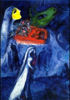 "Marc Chagall: ""On Two Banks"", 1956. (Private Collection)"