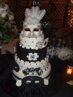 Sweet Sixteen Themes, Sweet Sixteen Cakes, Sweet Sixteen Parties, Masquerade Cakes, Sweet 16 Masquerade, Masquerade Party, Sweet 16 Birthday Cake, 16th Birthday, Birthday Parties