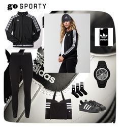 """""""Adidas"""" by allefale ❤ liked on Polyvore featuring adidas and sportystyle"""