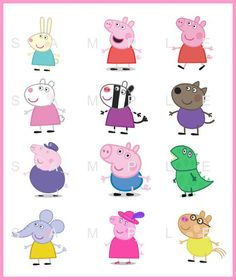 Pig Birthday, Third Birthday, 4th Birthday Parties, Cumple Peppa Pig, Pig Character, George Pig, Pig Party, Party Themes, Candy Stripes