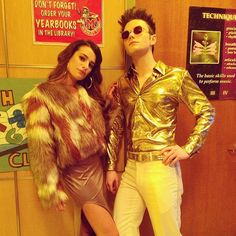 Chris Colfer and Lea Michelle