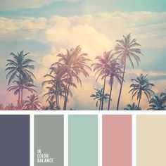 Цветовая палитра №3321  #color #palette #inspiration #colors #beautiful #green #teal #turquoise #pink #and #beige #gray #blue #pale #scheme