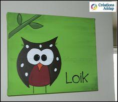 Peinture sur toile personnalisée pour enfant. par CreationsAddap