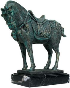 Ancient Tang Horse Iron Statue Animal Statues Art It Cast
