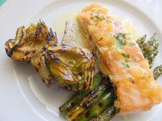 Cuina de la Mare: Salmó al forn amb verdures Salmón al horno con verduras