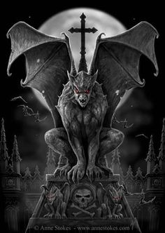 This image reminds me of the gargoyle pets kept by the warlocks in Dragons Realm, a Dark Fantasy novel coming in 2015 by Tessa Dawn (Source: Gothic Gargoyles Dark Fantasy, Fantasy Kunst, Fantasy Art, Arte Dark Souls, Gargoyle Tattoo, Art Noir, Gothic Gargoyles, Creature Picture, Gothic Wallpaper
