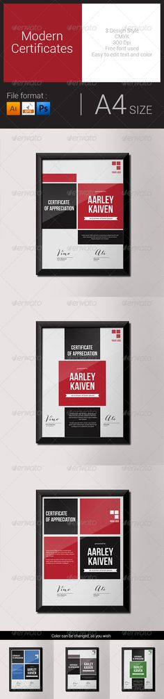 Modern Certificates #graphicriver