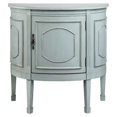 Shop for Stein World 1 Door Demilune Console, and other Living Room Cabinets at B. Myers Furniture in Goodlettsville, Tennessee, A soft Glacier Bay finish updates this classic one-door demilune making it an obvious essential for any space. Furniture Decor, Painted Furniture, Cabinet Furniture, Accent Furniture, Girls Furniture, City Furniture, Furniture Hardware, Furniture Storage, Furniture Online