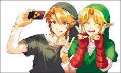 Twilight Princess Ocarina of Time Link TP OOT Selfie Triforce