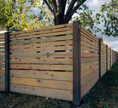 modern horizontal fence - Google Search