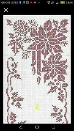 best 12 – page 493425702923443925 Crochet Cross, Thread Crochet, Filet Crochet, Crochet Doilies, Crochet Stitches, Xmas Cross Stitch, Cross Stitch Charts, Cross Stitch Designs, Cross Stitch Patterns