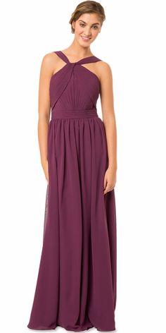 08f3d81eeb  77.99  Attractive Chiffon Halter Neckline Full-length A-line Bridesmaid  Dresses