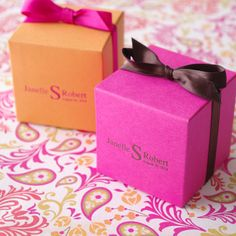 Personalized Monogram Favor Box by ImpressedFavors on Etsy, $1.15