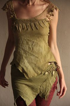 MADE TO ORDER Autumn dance pixie wrap skirt by FractalWings, $59.00
