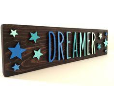 Dreamer custom wood sign by EarthandAsh on Etsy https://www.etsy.com/listing/268609795/dreamer-custom-wood-sign