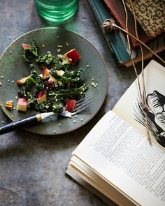Jennifer Davick - Kale and Apple Salad for The Fresh Market Cookbook.