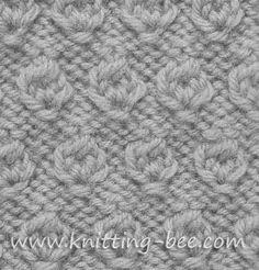 Free Hazelnut Stitch Knitting Pattern. Abbreviations: k= knit p= purl yf = yarn forward tog = together Cast on multiples of 4 Row 1 (RS): *p3, (k1, yf, k1) into next st; rep from* Rows 2 and 3: *p3, k3; rep from* Row 4: *p3 tog, k3; rep from* Row 5: purl Row 6: knit Row…