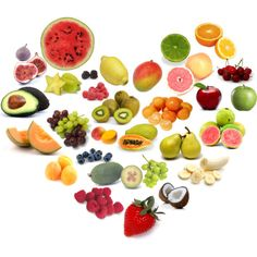fruit heart collage