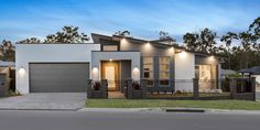 Vista Display Homes in Jimboomba Modern House Facades, Modern House Design, House Roof, Facade House, Display Homes, Building A New Home, Exterior House Colors, Facade Design, New Homes