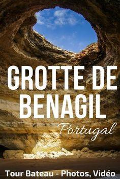 Découvrez les magnifiques Grottes de l'Argarve y compris la fameuse Grotte de Benagil. Photos et video d'une excursion en bateau le long the la côte de l'Algarve   Portugal voyage   Portugal Paysage   Algarve Portugal
