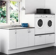 Setup of washer / dryer – Laura Vogel Setup of washer / dryer Setup of washer / dryer – White Laundry Rooms, Modern Laundry Rooms, Laundry In Bathroom, Small Bathroom, Laundry Room Design, Kitchen Design, Landry Room, Laundry Room Inspiration, Garage Apartments