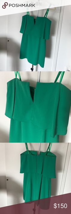 BCBG KATE DRESS. Strapless green dress Super cute bcbg green dress! Strapless but comes with straps. V neck line. New with tags. Never worn! BCBG Dresses Mini