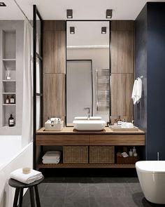 Что в интерьере этой ванной комнаты вам нравится больше всего? Interior design by @cartelledesign #shallashbathroom #shallash