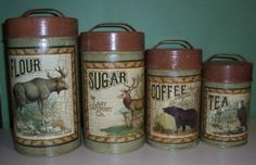 Country Kitchen Wildlife Canister Set
