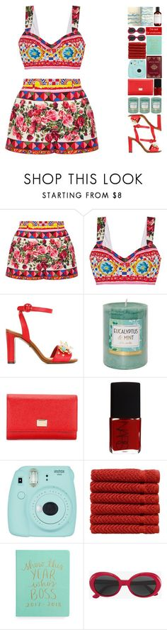 """6339"" by tiffanyelinor ❤ liked on Polyvore featuring Dolce&Gabbana, Chesapeake Bay Candle, NARS Cosmetics, Fujifilm, Theory, Linum Home Textiles and Yves Saint Laurent"