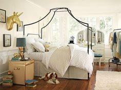 Inspiration for an Eclectic Girls Room...Pottery Barn Teen...Maison Gold Dottie Bedroom