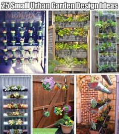25 Small Urban Garden Design Ideas - love the chalkboard/pallet idea and quite a few others.