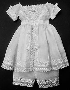 infant embroidery 1910 | Child's circa 1844 Ensemble from the Philippines.