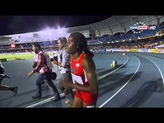 Candace Hill 11.08 CR wins 100m Final Khalifa St Fort 2nd 11.19 PR World...